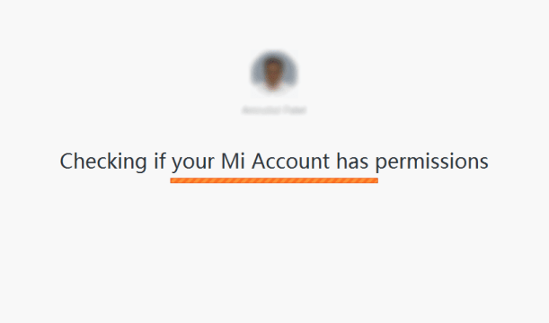 Step 6-1 - Checking for Mi Account permissions for Unlock of Your Redmi Phone