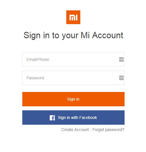 Step 3 - Sign In To MI Account (unlock bootloader of redmi note 3)