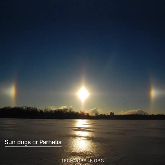 Halos - Sun dogs or parhelia