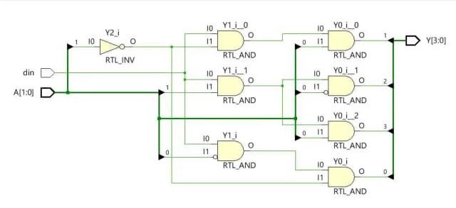 hardware schematic of demultiplexer