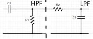 Circuit of Band Pass Filter