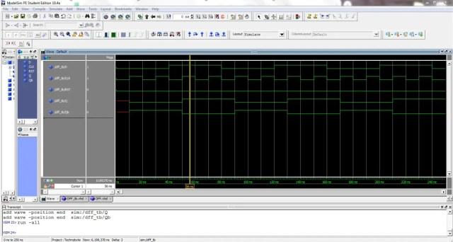 D FlipFlop-Waveform