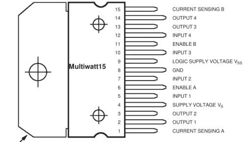 pin diagram of l298n