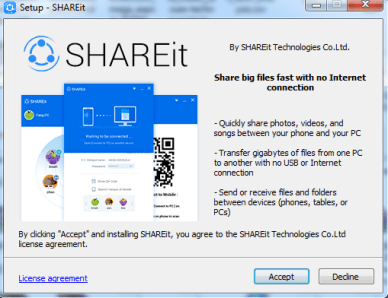 install share it
