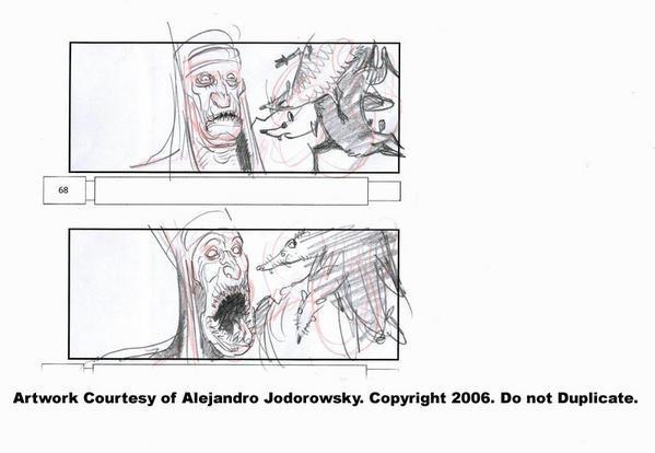 Jodorowsky King Shot storyboards