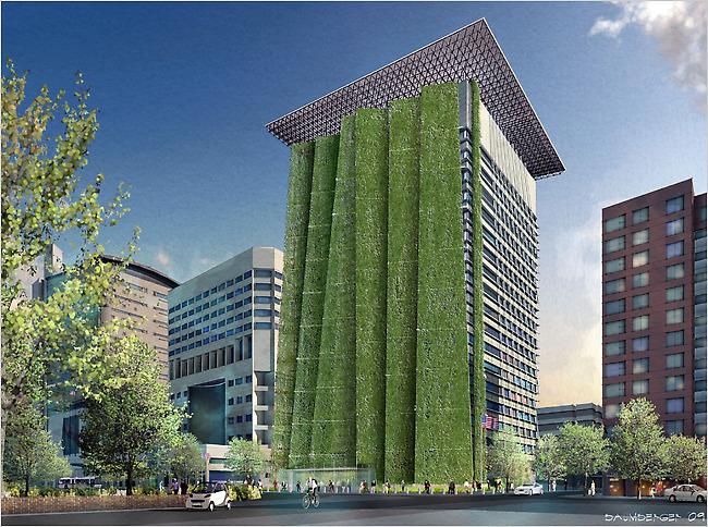 green wall portland