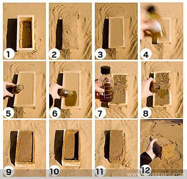 Biomanufactured bricks
