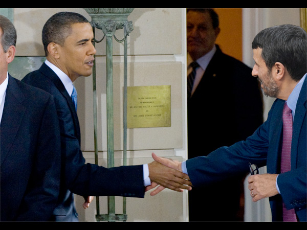 Obama with Ahmadinejad (fake)