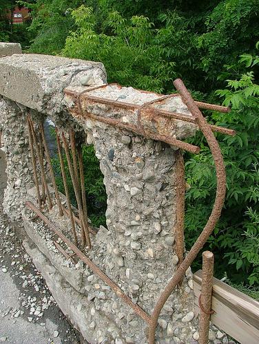 crumbling bridge