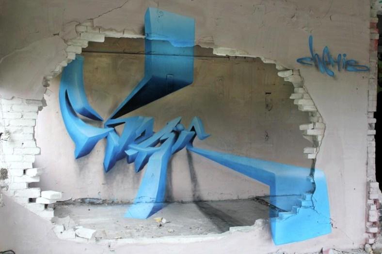 Street art by Chemis