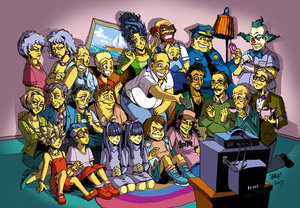 simpsons as anime characters