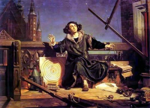 Copernicus in the tower at Frombork- 1872