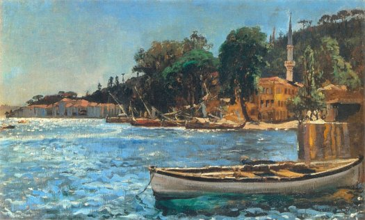 View of Bebek near Constantinople- 1872