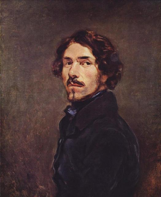 Eugene Delacroix self-portrait-c-1840