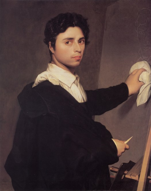 Jean Auguste Dominique Ingres self-portrait-1