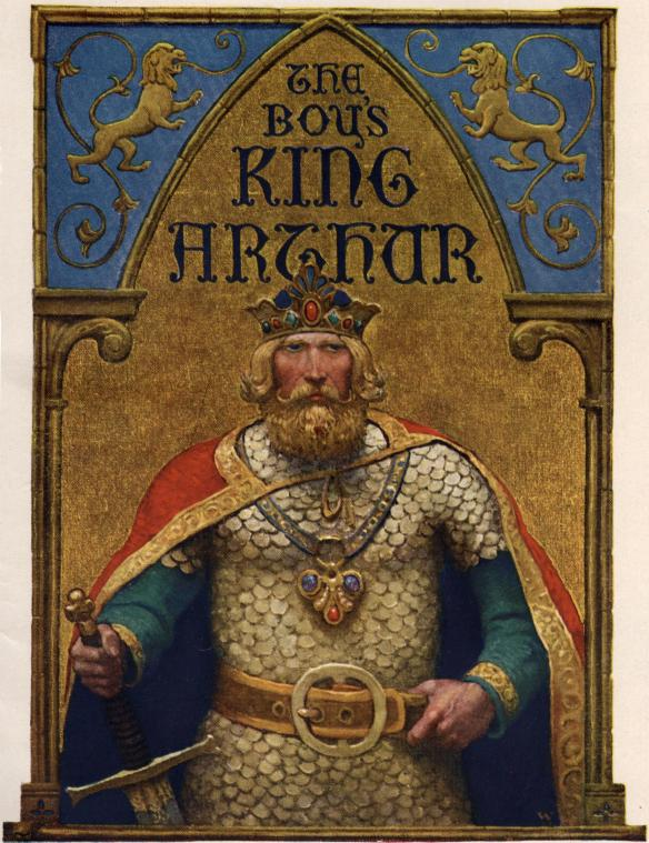Title Page Of The Boy's King Arthur 1922