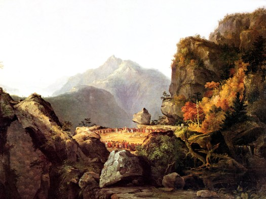 Scene from The Last of the Mohicans by James Fenimore Cooper-1827