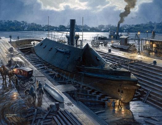Virginia in Dry Dock 1863