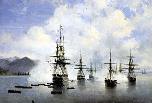 Ivan Aivazovsky - The Landing at Subashi-1839