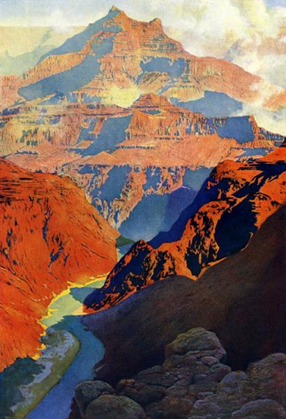 Maxfield Parrish - Grand Canyon - 1902