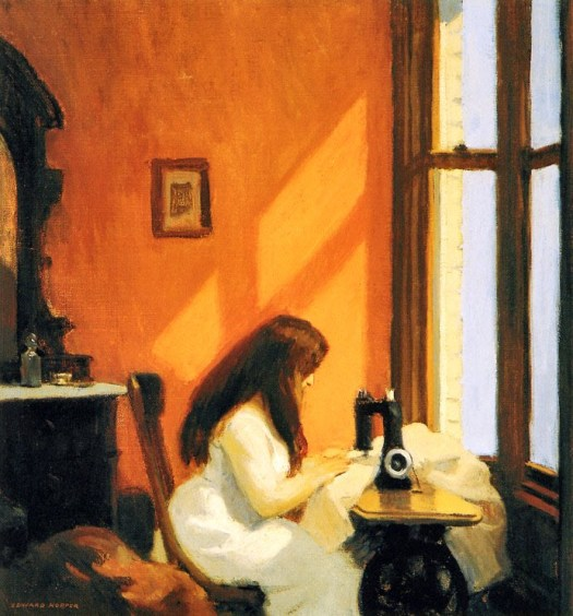 Edward Hopper - Girl at a Sewing Machine - 1921