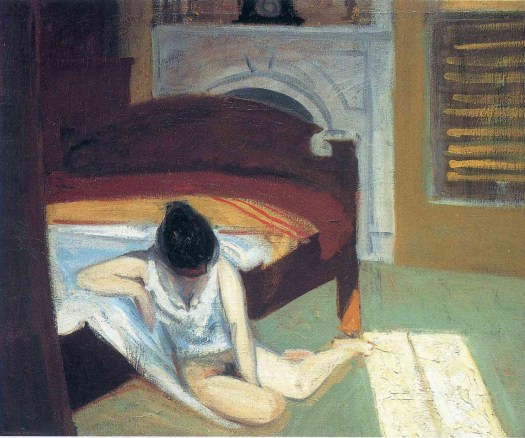 Edward Hopper - Summer Interior - 1909
