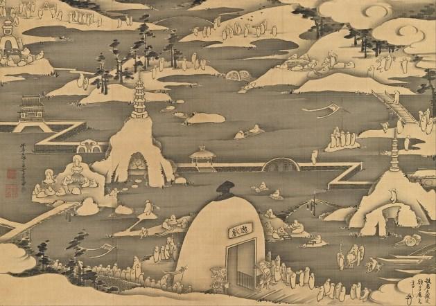 Itō Jakuchū - Five hundred arhats