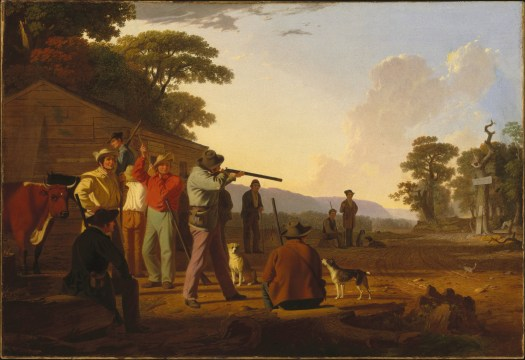 George Caleb Bingham - Shooting For The Beef - 1850