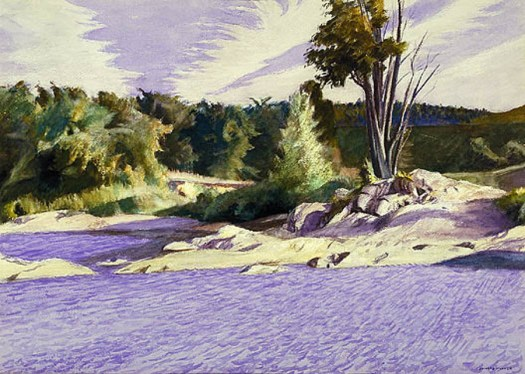 Edward Hopper - White River at Sharon - 1937