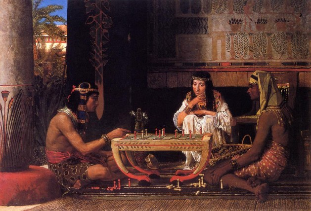 Lawrence Alma-Tadema - Egyptian Chess Players - 1865