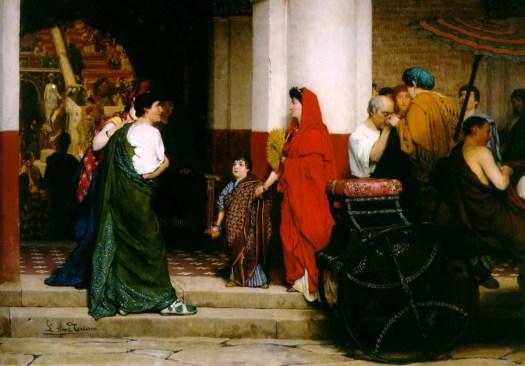 Lawrence Alma-Tadema - Entrance to a Roman Theatre - 1866