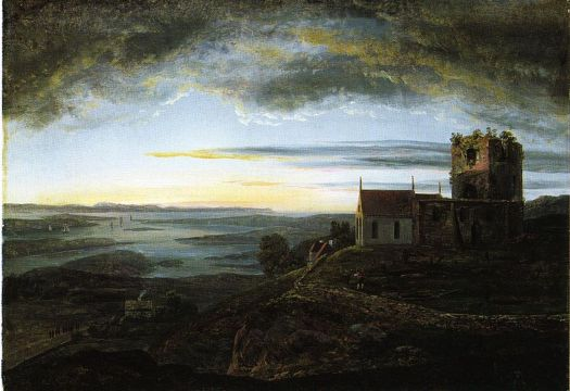 Johan Christian Dahl - Avaldsnes Church - 1820