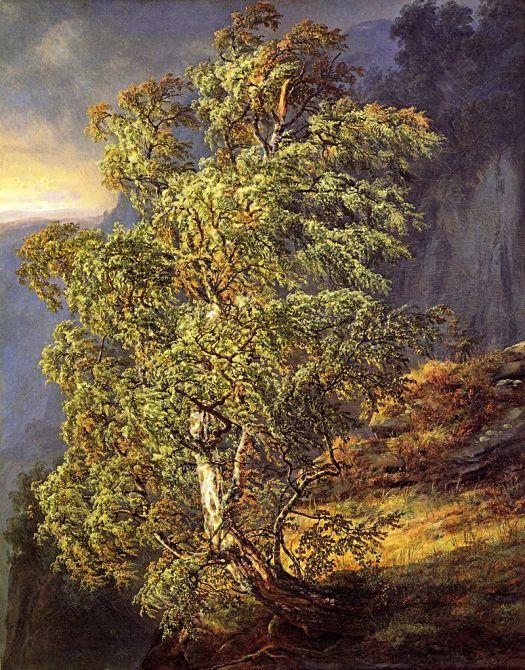 Johan Christian Dahl - Berk i storm - 1836