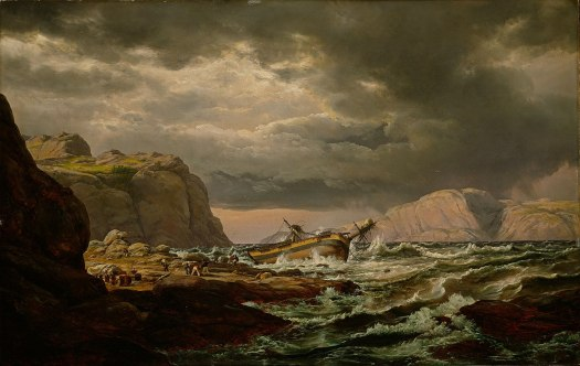 Johan Christian Dahl - Shipwreck on the Coast of Norway - 1832