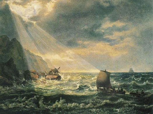 Johan Christian Dahl - Skipbrudd ved Caprikysten