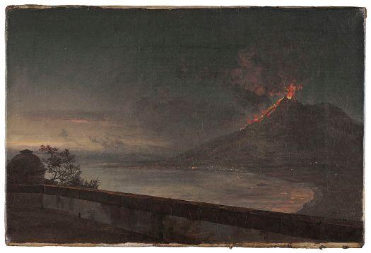 Johan Christian Dahl - Utsikt mot Vesuvius från Quisisana