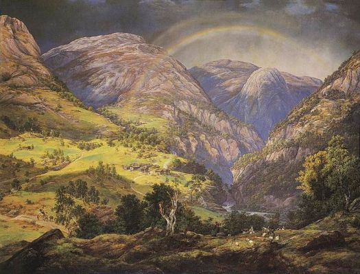 Johan Christian Dahl - View from Stalheim - 1842