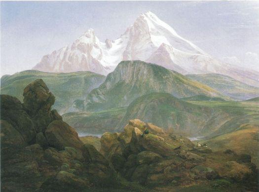 Johan Christian Dahl - Watzmann - 1835