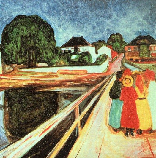 Edvard Munch - Girls on a Bridge - 1899-1900