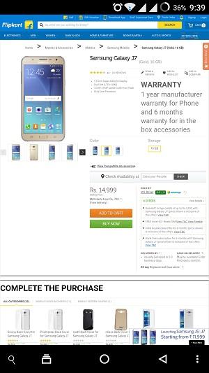 Flipkart.com Mobile Site