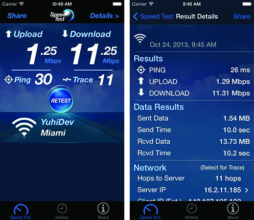 Best WiFi Speed Test Apps For iPhone-Speedtest-SpeedSmart