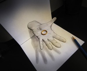 3d objects drawing drawings paper anamorphic escape pencil something seem draw easy simple sketch alessandro sketches diddi line ingenious magical