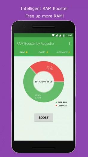 11 - مزايا تطبيق RAM Game Booster لتسريع الاندرويد و العابة