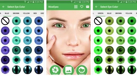 1 - تطبيق تغيير لون العين Popular Eye Color