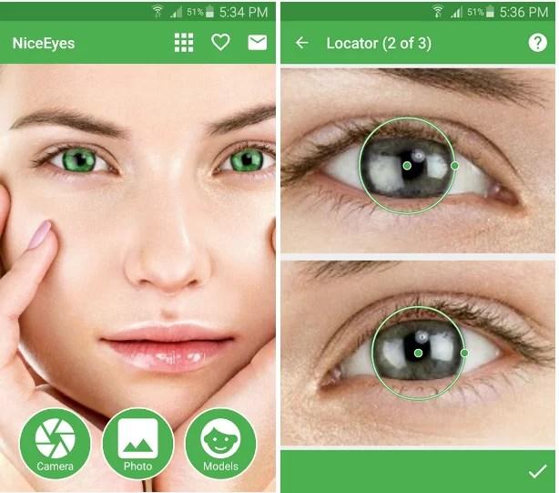 2 1 - تطبيق تغيير لون العين Popular Eye Color