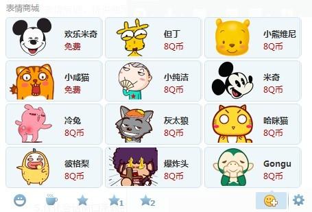 QQ Emoticon Market
