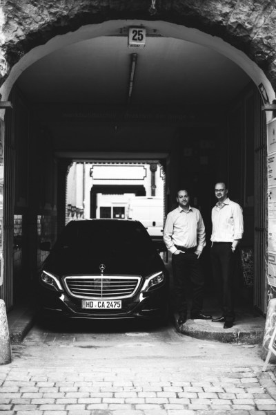 Blacklane founders Frank Steuer and current CEO Jens Wohltorf.