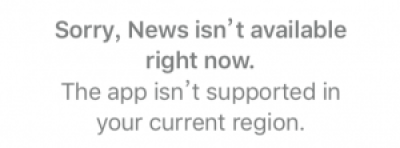Apple News Is Not Here