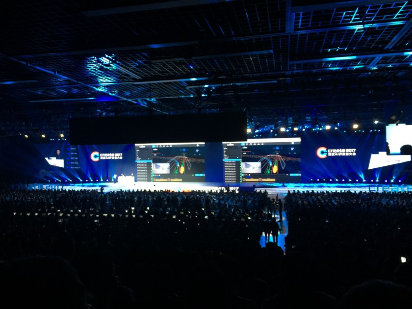 Standing room only as audience of 4,000 learns about the Simulator Engine (Image credit: TechNode)