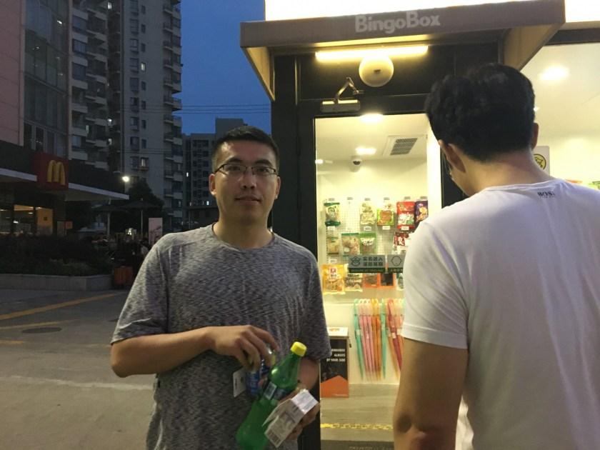Wang Ran, a customer (Image Credit: TechNode)